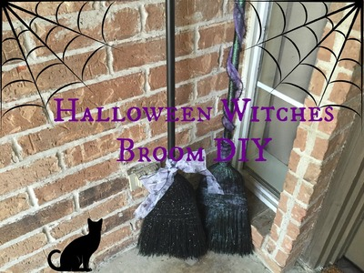 Halloween Witches Broom - Front Porch Decor DIY