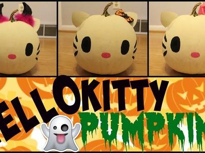Hello Kitty Halloween Pumpkin DIY!!!