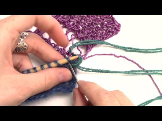 How-To: Attach Live Stitches to Finished Lace Edging