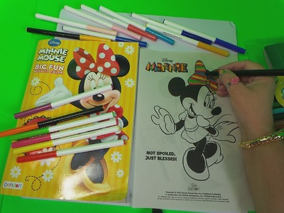 HOW TO BASIC COLOR DISNEY'S MINNIE MOUSE WITH A NEW RAINBOW DRESS