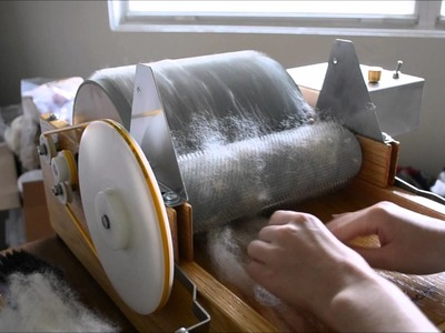 How to Card Fleece on a Little Brother Motorized Drum Carder