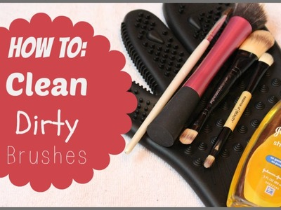 How to Clean Dirty Makeup Brushes | Alexa's DIY Life