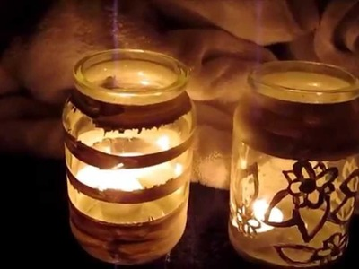 How to - Decorating Jars for tea lights