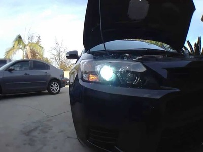 How to Install HIDs [Conversion Kit] DIY : Scion TC