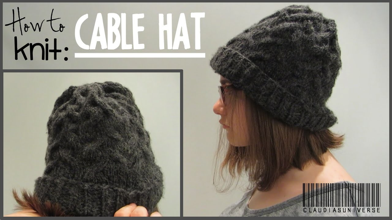 How to Knit a Cable Hat