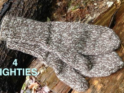 How To Knit Basic Mittens - Size Small (4 Righties)