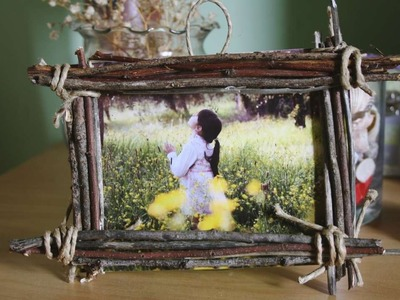 How To Make A Country Wood Frame For Your Photos - DIY Home Tutorial - Guidecentral