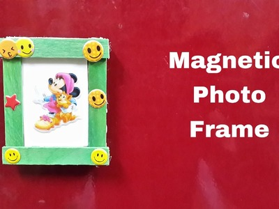 How to Make a DIY Magnetic Photo Frame for Fridge.Refrigerator