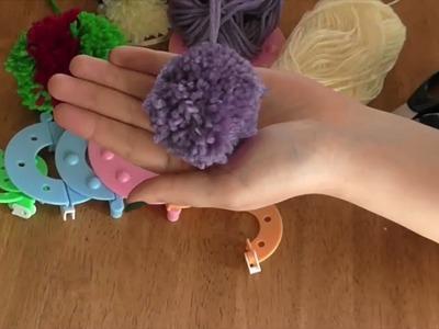 How to Make a Pom Pom Fluff Ball Using a Pompom Maker Loom Set - Curtzy