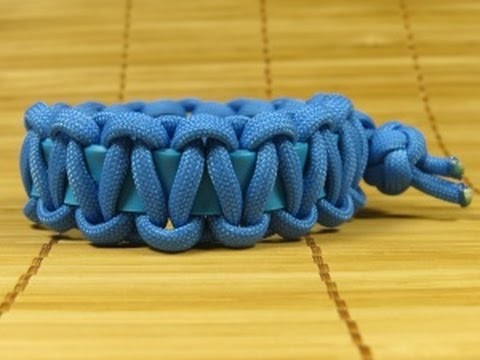 How to make an Elastic (Stretchy Band) Cobra Weave Paracord Bracelet