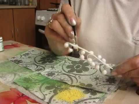 How to make lily of the valley from sugar paste.part Four.- coloring
