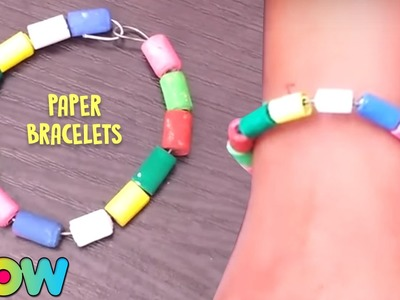 How To Make Paper Bracelets   Easy Paper Crafts   DIY For Kids   Wow Juniors