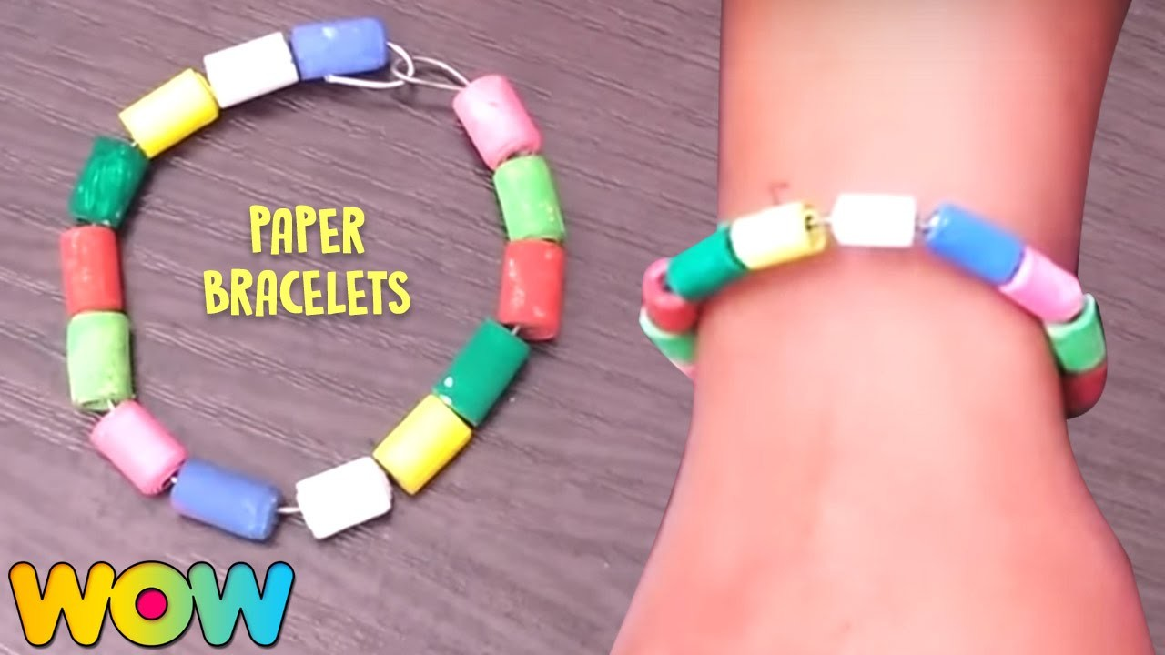 How To Make Paper Bracelets | Easy Paper Crafts | DIY For Kids | Wow Juniors