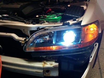 How to retrofit headlights (Honda Accord 1998-2002 6th gen) DIY with Morimoto Mini H1 HID