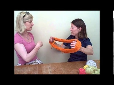 How to turn a skein of yarn into a ball - By Mrs. Moon