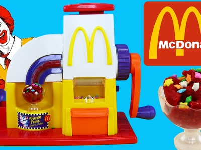 McDonalds Happy Meal Magic Toy Frozen Fruit Maker DIY Ice Cream Dessert Toy Review