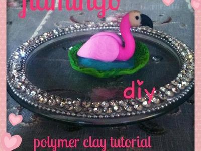 Miniature flamingo tutorial-polymer clay tutorial.DIY