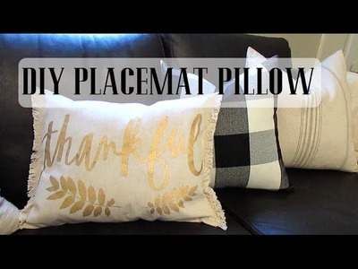 Nap Time DIY: Easy Placemat Pillow   VLOGTOBER 2015 Day 20