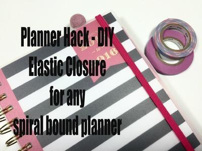 PLANNER HACK DIY   Planner Elastic for any spiral bound planner