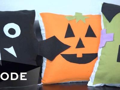 4 DIY Pillow Ideas   ☠ Halloween Style Scene