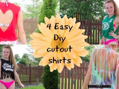 4 Easy DIY Cut Out Shirts