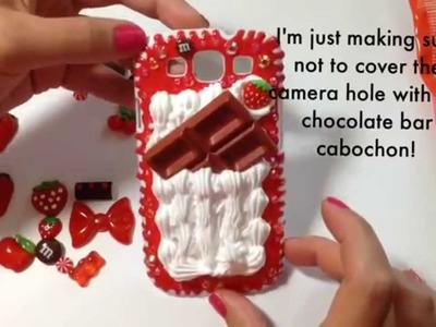 Chocolate & Strawberry Decoden Phone Case (the making of)