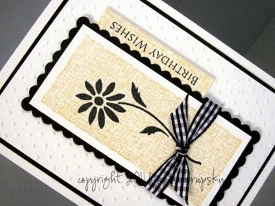 Clean and Simple Card Project  Side Greeting