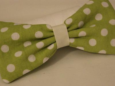 DIY Bow Hair Clip - Halloween 2012 - Whitney Sews