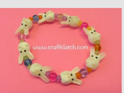 DIY Easter Bunny Bead Bracelet