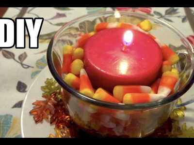 DIY Fall Candle Decoration