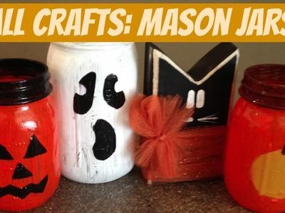 DIY FALL CRAFTS : HALLOWEEN MASON JAR LUMINARIES