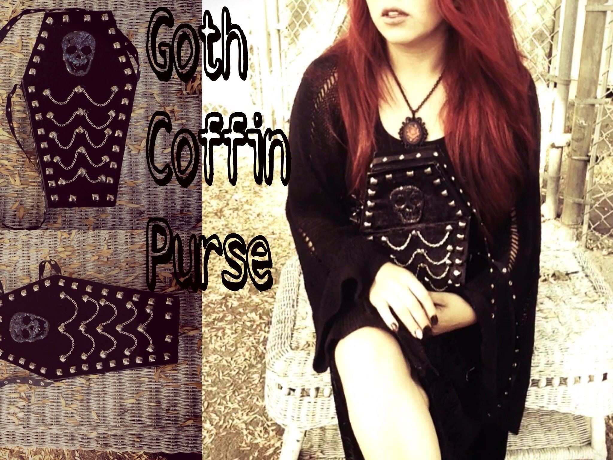 DIY- GOTH COFFIN PURSE - BOLSA DE ATAÚD GÓTHICA !!!