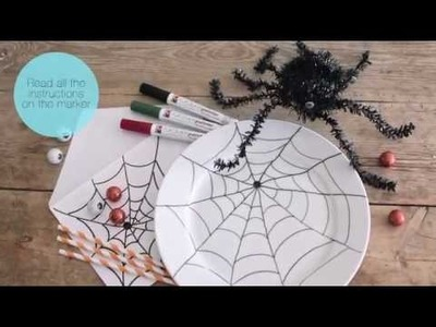 DIY: Halloween decorations with porcelain markers by Søstrene Grene