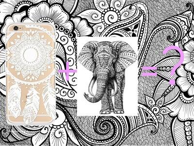 DIY Henna Elephant Phone Case