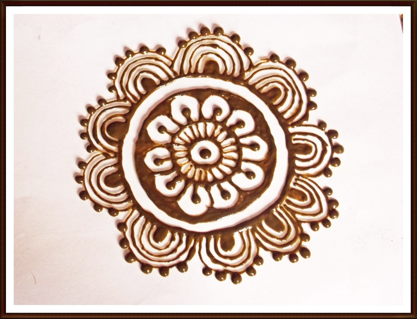 DIY : How to make flower with henna cone : henna design for hand