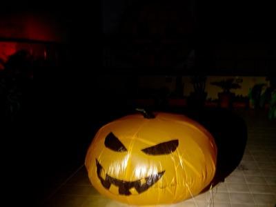 DIY inflatable halloween pumpkin for under 10$