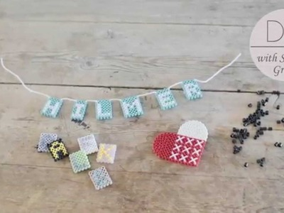 DIY: Name plate in beads by Søstrene Grene