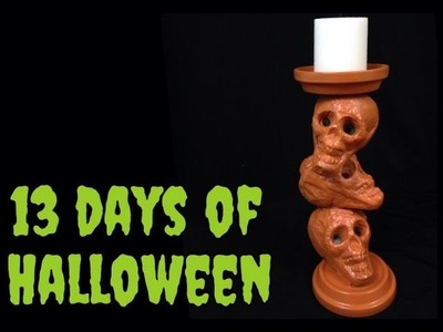 DIY Skull Candle Holder - 13 Days Of Halloween!