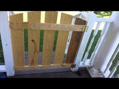Easy DIY porch gate or baby gate tutorial