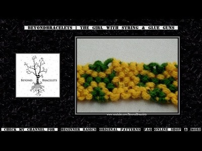 ► Friendship Bracelet Tutorial - Beginner - Four Leaf Clover