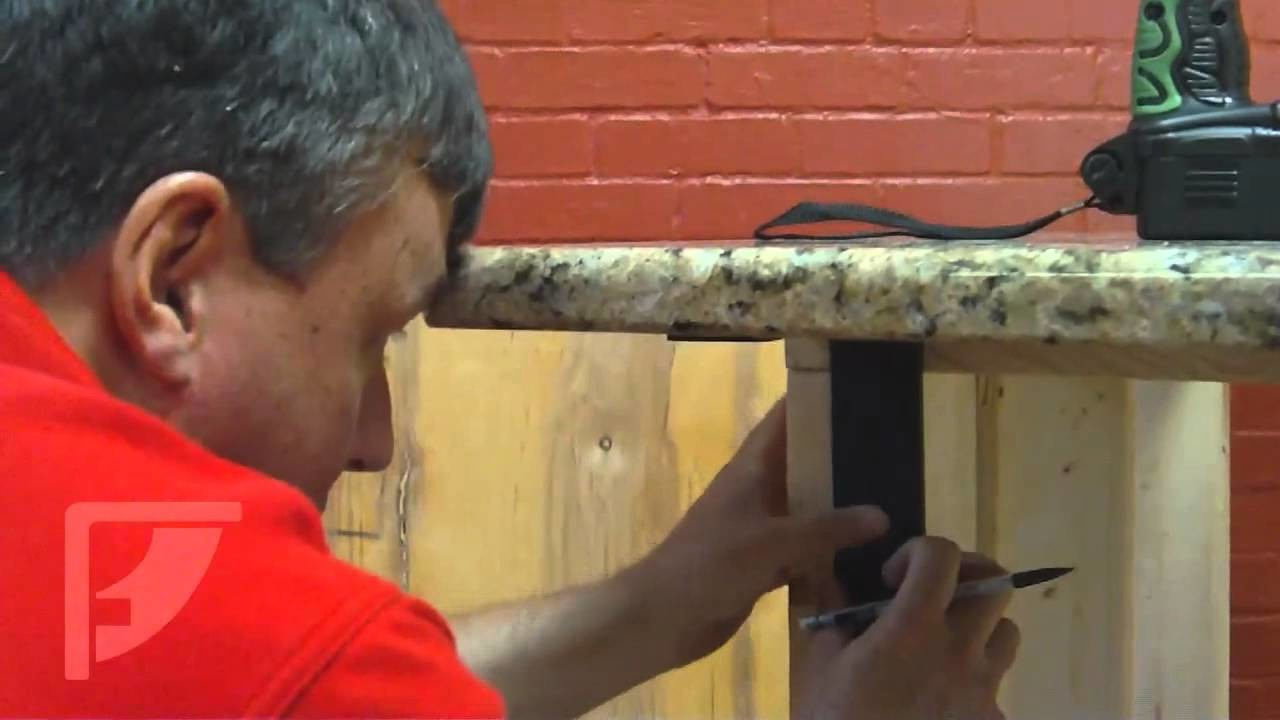 How to install Freedom Countertop Brackets for an Invisible Countertop Support