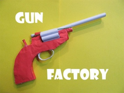 How to Make a Paper Revolver that shoots Paper bullet - Easy Tutorials