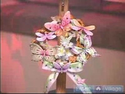 How to Make Pretzel Crafts : How to Make a Blossoms & Butterflies Wreath With Pretzels