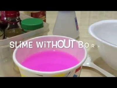 How to make slime without borax. DIY slime. GlitterTube Hd