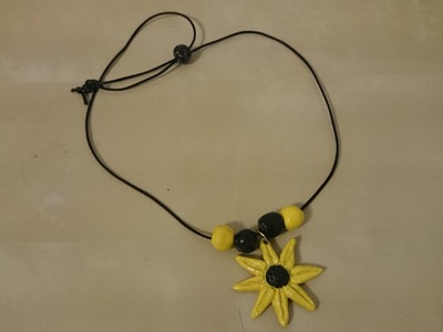 How to make terracotta sunflower necklace: terracotta.clay jewellery making tutorial
