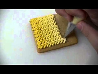 How to make wool effect on cookies with royal icing