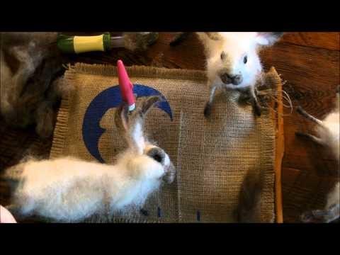 How to Needle Felt: Basket Bunny 3 by Sarafina Fiber Art