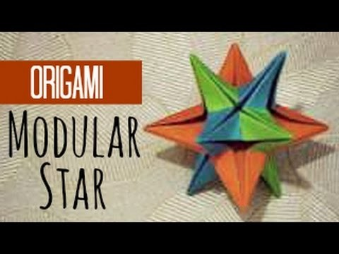 Modular star origami instructions