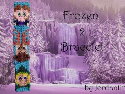 New Disney Frozen Bracelet 2 Pattern - Alpha Loom. Rainbow Loom - Hans Sven Kristoff
