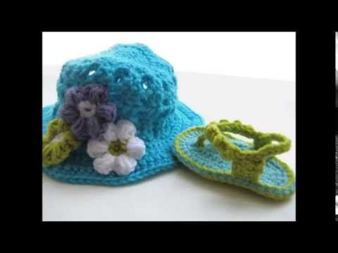 Orchid Sandals Crochet Baby Booties Pattern